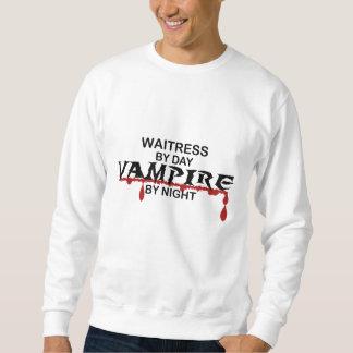 Vampiro de la camarera por noche sudadera