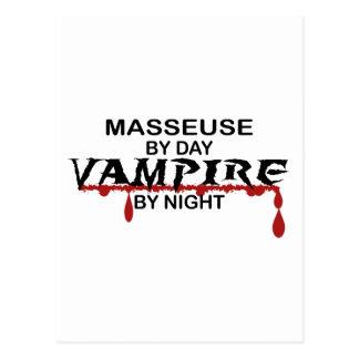 Vampiro de la masajista por noche tarjeta postal