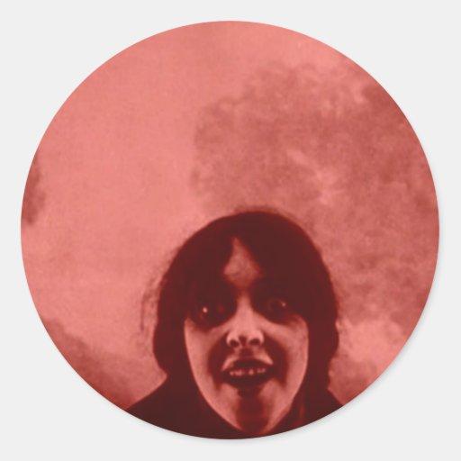 vampiro de la señora pegatina redonda