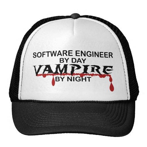Vampiro de la Software Engineer por noche Gorras