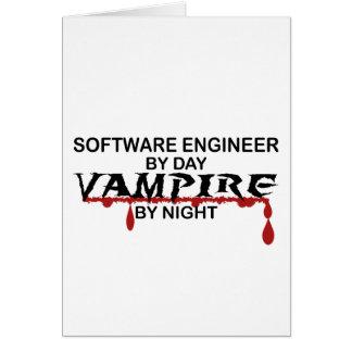 Vampiro de la Software Engineer por noche Tarjeta De Felicitación