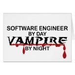 Vampiro de la Software Engineer por noche Tarjeton