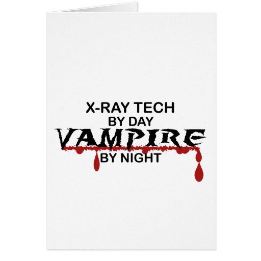 Vampiro de la tecnología de la radiografía por noc tarjetas