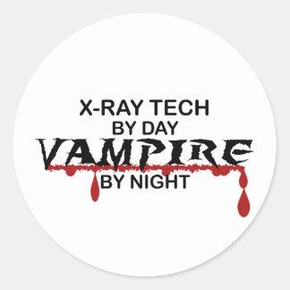 Vampiro de la tecnología de la radiografía por pegatina redonda