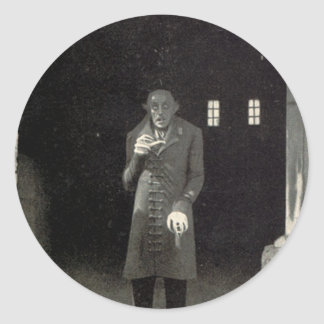 Vampiro de Nosferatu Pegatina Redonda