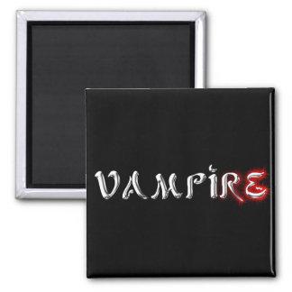 Vampiro de plata líquido gótico imán cuadrado