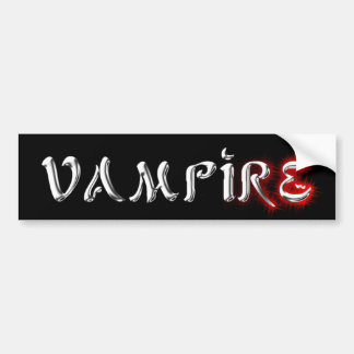 Vampiro de plata líquido gótico pegatina para auto