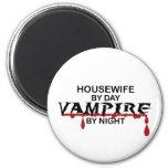 Vampiro del ama de casa por noche imán para frigorifico