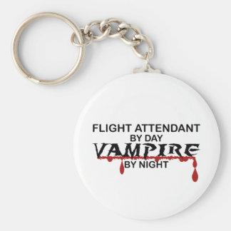 Vampiro del asistente de vuelo por noche llavero redondo tipo pin