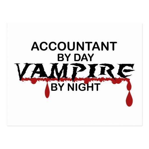 Vampiro del contable por noche postal