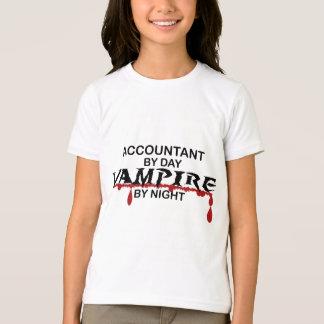 Vampiro del contable por noche remera
