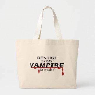 Vampiro del dentista por noche bolsa tela grande