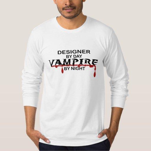 Vampiro del diseñador por noche playera