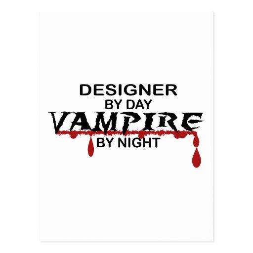 Vampiro del diseñador por noche postal