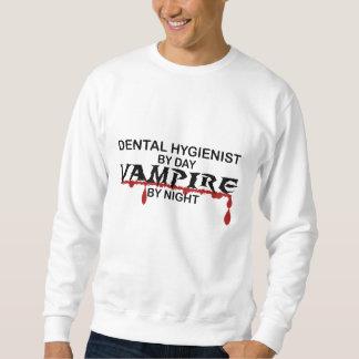 Vampiro del higienista dental por noche sudadera
