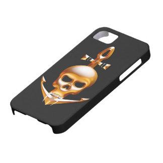 Vampiro del oro y cráneo del ancla iPhone 5 coberturas