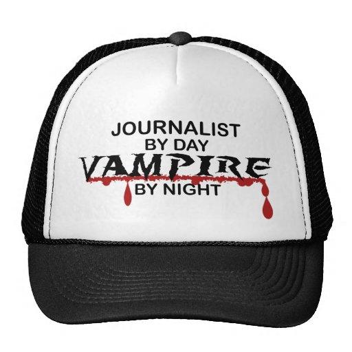 Vampiro del periodista por noche gorras de camionero