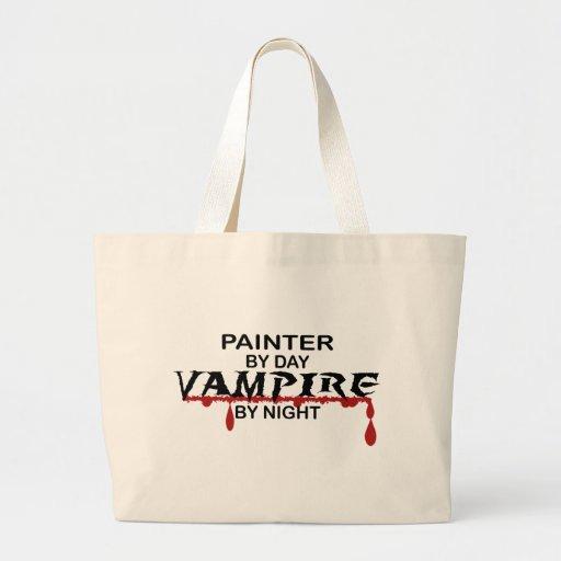 Vampiro del pintor por noche bolsa tela grande