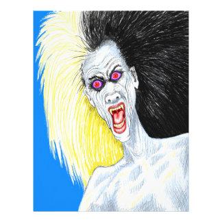 Vampiro del rock-and-roll plantilla de membrete