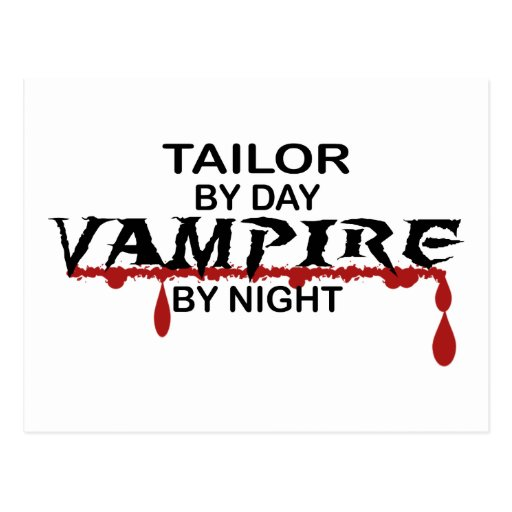Vampiro del sastre por noche tarjeta postal