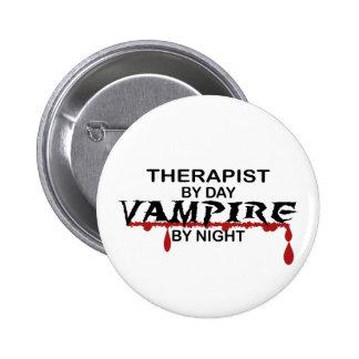 Vampiro del terapeuta por noche pins