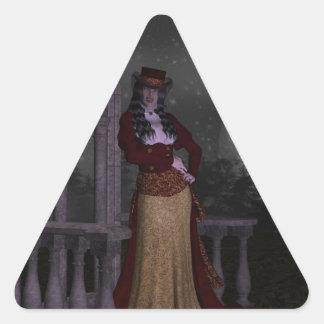 Vampiro del Victorian Pegatina Triangular