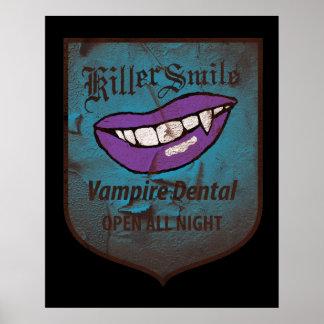 Vampiro dental póster