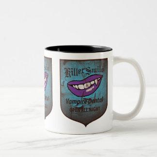 Vampiro dental taza de dos tonos