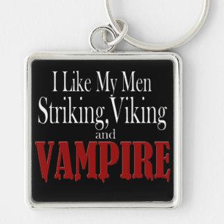Vampiro destacado de Viking Llavero Cuadrado Plateado