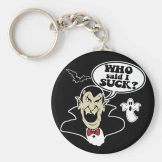 Vampiro divertido de Halloween Llavero Redondo Tipo Pin