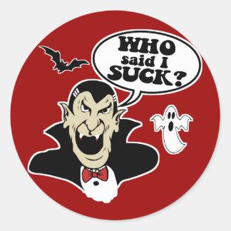 Vampiro divertido de Halloween Pegatina