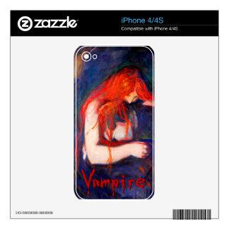 Vampiro Edvard Munch iPhone 4 Skins