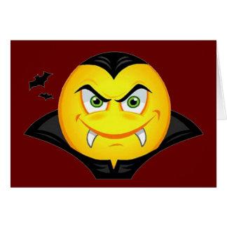 Vampiro Emoticom Tarjeta De Felicitación