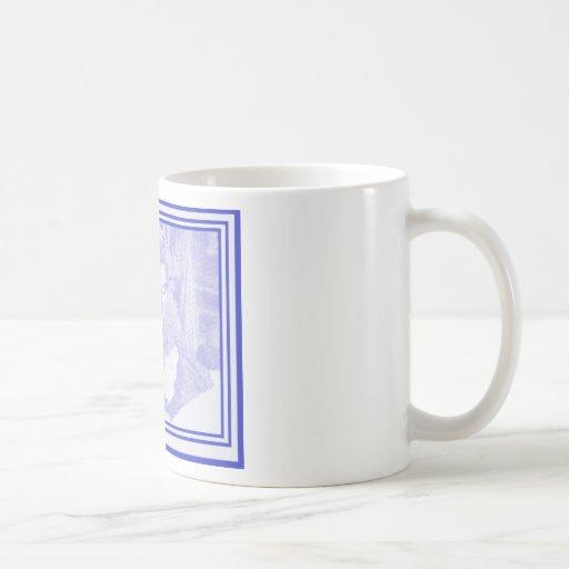 Vampiro en azul taza de café