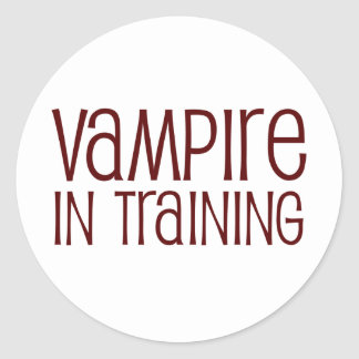 Vampiro en el entrenamiento pegatina redonda