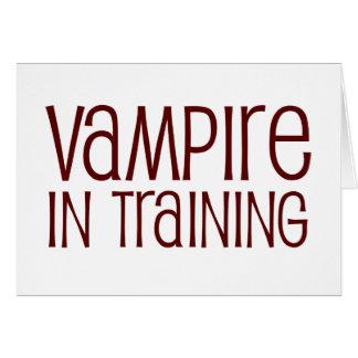 Vampiro en el entrenamiento tarjeta de felicitación
