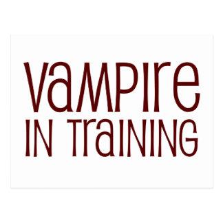 Vampiro en el entrenamiento tarjeta postal