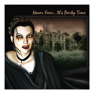 Vampiro en la invitación gótica del fiesta de