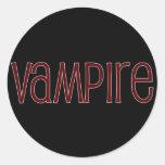 Vampiro Etiqueta Redonda