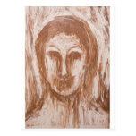 Vampiro femenino en la sepia (retrato del postal
