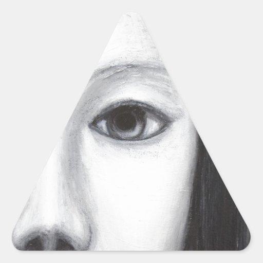 Vampiro femenino japonés (realismo surrealista) pegatinas de triangulo