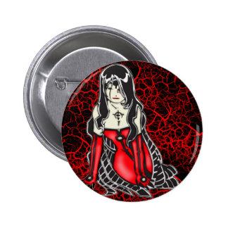 Vampiro femenino pin redondo 5 cm