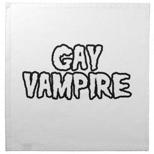 VAMPIRO GAY SERVILLETA IMPRIMIDA