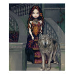 Vampiro gótico de los lobos de la IMPRESIÓN del AR Poster