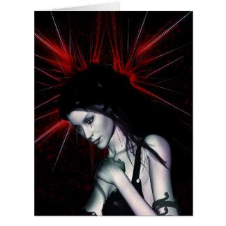 Vampiro gótico dos veces roto de los chicas de la tarjeta de felicitación grande