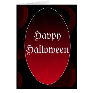 Vampiro gótico HappyHalloween Tarjeta De Felicitación