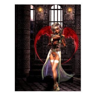Vampiro gótico M firmado fantasía de Girls™ del án Postal