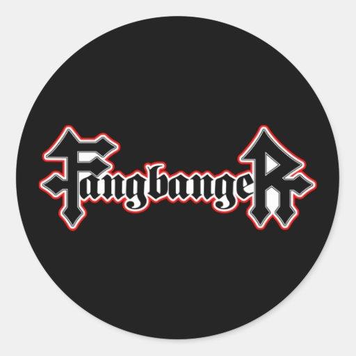 Vampiro Halloween de Fangbanger Etiquetas Redondas