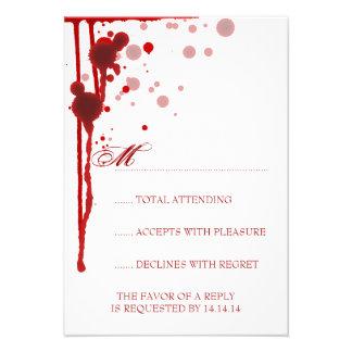 Vampiro Halloween que casa rojo sangre falso de RS Invitación
