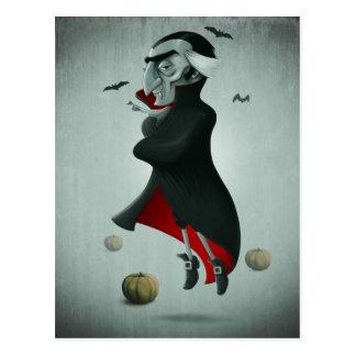 Vampiro Halloween Tarjeta Postal